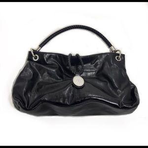 🌹Dana Buchman Black Leather Shoulder Bag